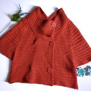 Anthropologie Moth Sweater Shrug Orange